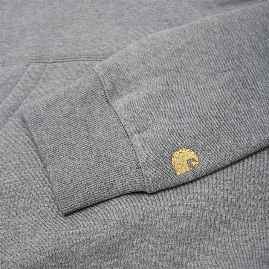 HOODED CHASE I026384 - Hooded Chase Sweat - Sweatshirts - Regular - D. GREY HTR/GOLD - 3